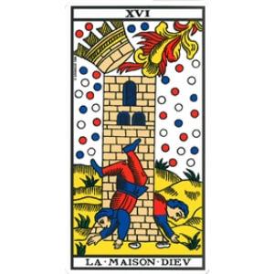 la maison dieu signification tarot de marseille