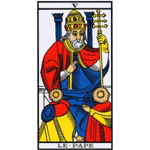 le pape signification tarot